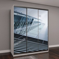 """Шкаф купе с фотопечатью """"панорамный вид высотных зданий, промышленная архитектура"""""""