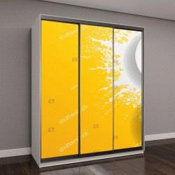 """Шкаф купе с фотопечатью """"лучи солнца на желтом фоне"""""""