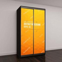 """Шкаф купе с фотопечатью """"Абстрактный оранжевый фон для дизайна"""""""