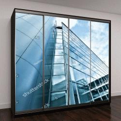 """Шкаф купе с фотопечатью """"современное стеклянное здание """""""
