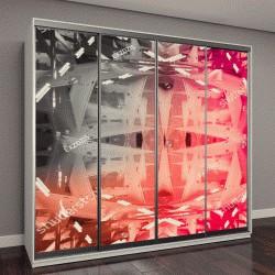 """Шкаф купе с фотопечатью """"геометрические абстрактные,абстрактный,абстрактный фон,абстракция,обои, абстрактный,абстрактный дизайн,фон абстрактный"""""""