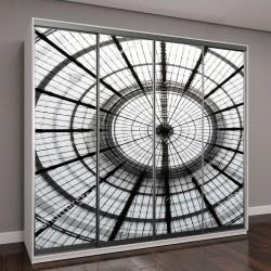 """Шкаф купе с фотопечатью """"фото прозрачной круглой стеклянной крыши"""""""