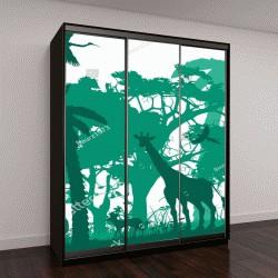 """Шкаф купе с фотопечатью """"Животные джунглей, дикая природа"""""""