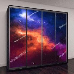 """Шкаф купе с фотопечатью """"Высокое звездное небо, космос"""""""