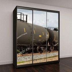 """Шкаф купе с фотопечатью """"вагоны поезда, перевозящие нефть"""""""