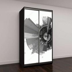 """Шкаф купе с фотопечатью """"панорамный снимок Нью-Йорка"""""""