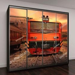 """Шкаф купе с фотопечатью """"быстро движущийся поезд"""""""