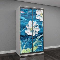 """Шкаф купе с фотопечатью """"Картина маслом и мастихином, красивые цветы """""""