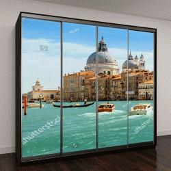 """Шкаф купе с фотопечатью """"Гранд-канал и Базилика Санта-Мария делла Салюте, Венеция, Италия"""""""