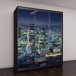 """Шкаф купе с фотопечатью """"Город Лондон на закате"""""""