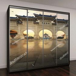 """Шкаф купе с фотопечатью """"Раннее утро в мемориальном зале, Тайвань"""""""