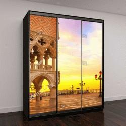 """Шкаф купе с фотопечатью """"Венеция, знаменитый Дворец Дожей на рассвете """""""