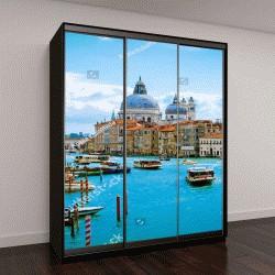 """Шкаф купе с фотопечатью """"Прекрасный вид на Гранд-канал и Базилика Санта-Мария делла Салюте в Венеции,Италия"""""""