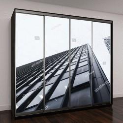 """Шкаф купе с фотопечатью """"Деталь архитектуры современного здания, стеклянный фасад """""""
