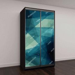 """Шкаф купе с фотопечатью """"Абстрактный фон в синих тонах"""""""