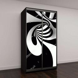 """Шкаф купе с фотопечатью """"3D спираль"""""""