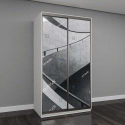 """Шкаф купе с фотопечатью """"детали цементной лестницы, кривой дизайн"""""""