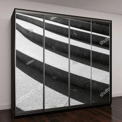 """Шкаф купе с фотопечатью """"Архитектурное проектирование лестниц"""""""