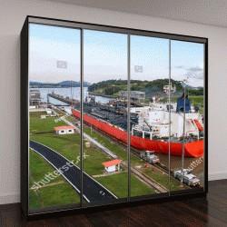 """Шкаф купе с фотопечатью """"Панамский канал который соединяет Атлантический океан с Тихим океаном"""""""
