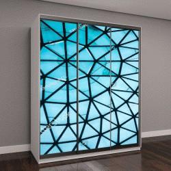 """Шкаф купе с фотопечатью """"Синяя стеклянная крыша с геометрическим рисунком"""""""