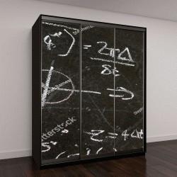 """Шкаф купе с фотопечатью """"Математические уравнения на доске"""""""