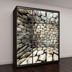 """Шкаф купе с фотопечатью """"Абстрактный геометрический фон из камней"""""""