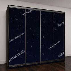 """Шкаф купе с фотопечатью """"красивое ночное небо и звезды"""""""