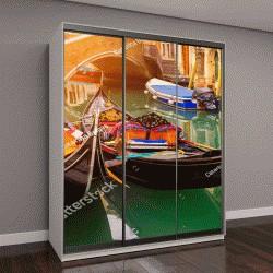 """Шкаф купе с фотопечатью """"Канал с гондолами в Венеции, Италия"""""""
