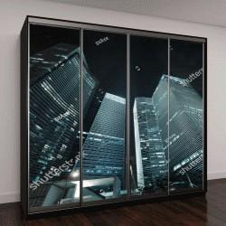 """Шкаф купе с фотопечатью """"офисные здания снаружи"""""""
