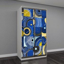 """Шкаф купе с фотопечатью """"абстрактный фон с круги и квадраты,векторные иллюстрации"""""""