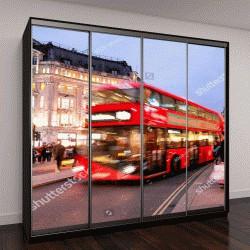 """Шкаф купе с фотопечатью """"Магазины на Оксфорд-стрит, Лондон, Рождество"""""""