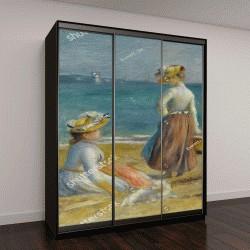 """Шкаф купе с фотопечатью """"Цифры на пляже, Огюста Ренуара, холст, масло"""""""