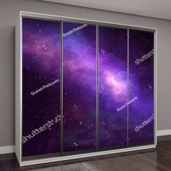 """Шкаф купе с фотопечатью """"Высокое звездное ночное небо, космос"""""""