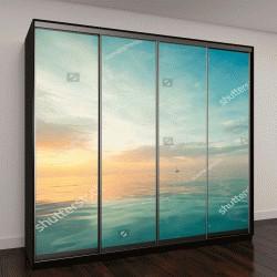 """Шкаф купе с фотопечатью """"пейзаж с широким горизонтом, небо и море"""""""