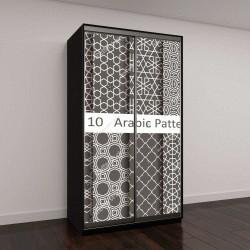 """Шкаф купе с фотопечатью """"Набор из десяти арабские узоры"""""""