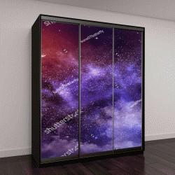 """Шкаф купе с фотопечатью """"Вселенная наполнена звездами, Луны и галактики"""""""