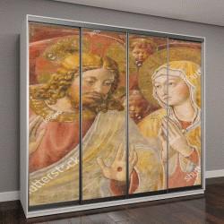 """Шкаф купе с фотопечатью """"фреска с изображением Иисуса Христа и матери Марии """""""