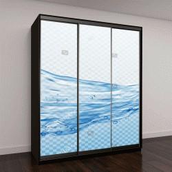 """Шкаф купе с фотопечатью """"Прозрачные брызги воды, капли, изолированные на прозрачном фоне"""""""