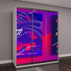 """Шкаф купе с фотопечатью """"Творческий дизайн плаката с яркими градиентами формы"""""""