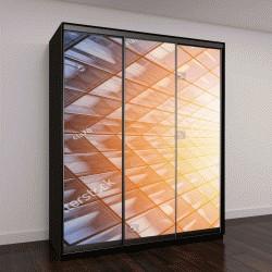 """Шкаф купе с фотопечатью """"вид небоскреба с солнечным светом"""""""