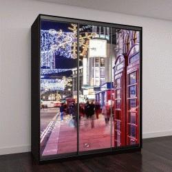 """Шкаф купе с фотопечатью """"Сохо в Рождество, Лондон"""""""