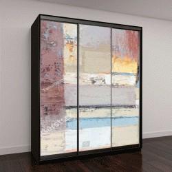 """Шкаф купе с фотопечатью """"масляные краски, абстрактный фон"""""""