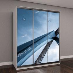 """Шкаф купе с фотопечатью """"архитектурные особенности, мост крупным планом"""""""