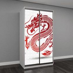 """Шкаф купе с фотопечатью """"традиционный китайский дракон, векторные иллюстрации"""""""