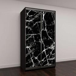 """Шкаф купе с фотопечатью """"черные мраморные текстуры"""""""
