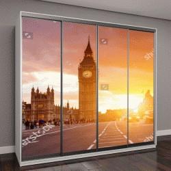 """Шкаф купе с фотопечатью """"Город Лондон, Вестминстер, Великобритания """""""