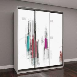 """Шкаф купе с фотопечатью """"красочные абстрактные цифровой живописи для фона"""""""