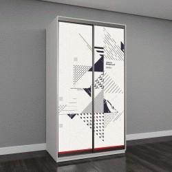"""Шкаф купе с фотопечатью """"Абстрактная геометрическая композиция с декоративными треугольниками"""""""