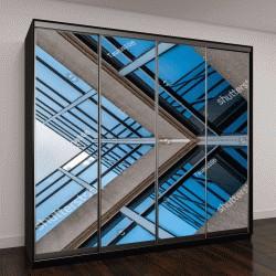 """Шкаф купе с фотопечатью """"современные стеклянные и бетонные здания"""""""