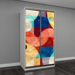 """Шкаф купе с фотопечатью """"акварельные яркие разноцветные пятна, абстрактный узор из различных элементов """""""